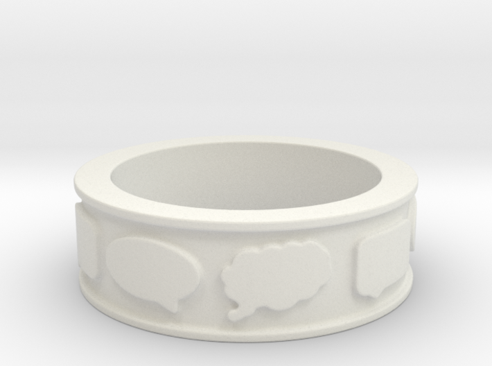 Chat Ring 3d printed