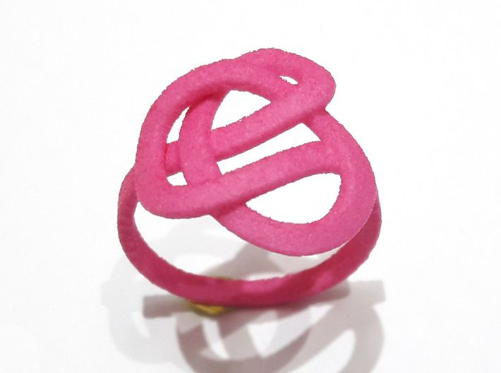 Infinity Love Ring (From $13) 3d printed Pink Ring