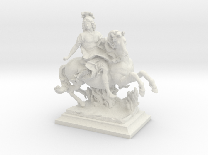 Equestrian Statue of King Louis XIV of France, Lou 3d printed