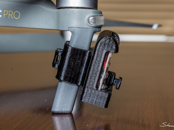 ARC II Strobe Light Enclosure for DJI Mavic Pro Dr 3d printed Shown here attached to the Mavic Pro and holding an ARC II