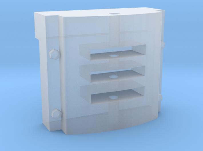 7mm scale Simplex buffer 3d printed