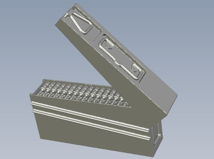 1/10 scale WWII Wehrmacht MG-42 ammo canisters x 3 3d printed