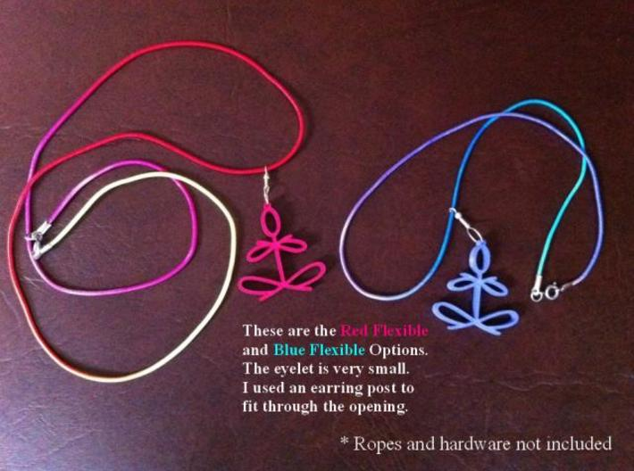 Yoga Glee Necklace with eyelet by Graphic Glee 3d printed