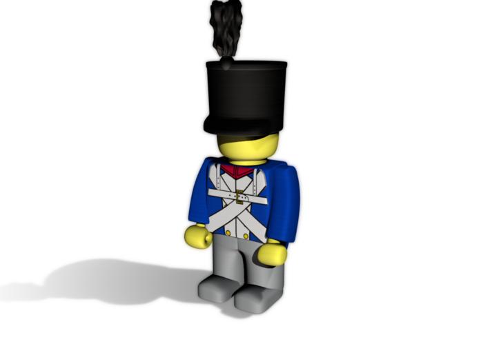 French Shako TwP 3d printed Example figurine wearing the helmet in black premium