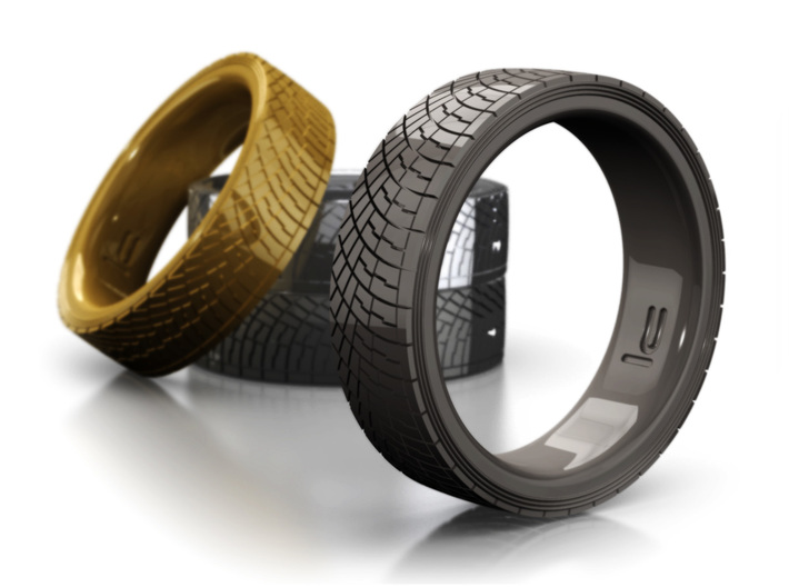 Rally Tire Ring 11.5 3d printed Rendering from my CAD-program :)