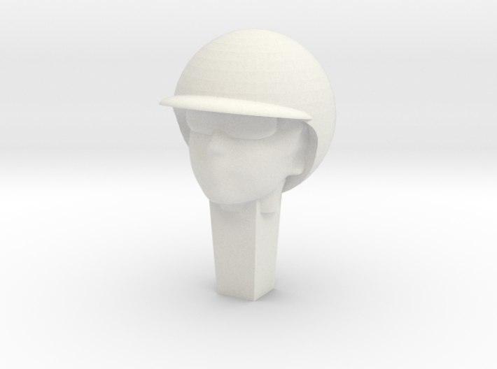 Race slotcar driver head 2 3d printed Example as supplied