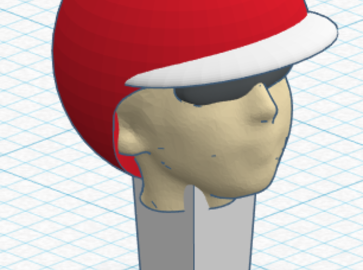 Race slotcar driver head 2 3d printed Example after coloring