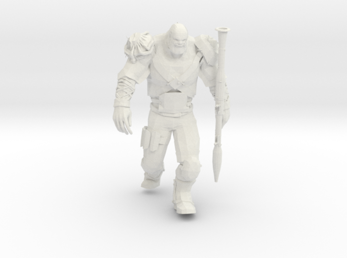 Mutant with RPG launcher 3d printed
