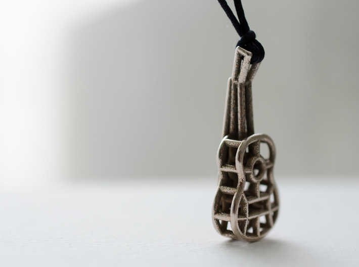 Guitar steel pendant 3d printed