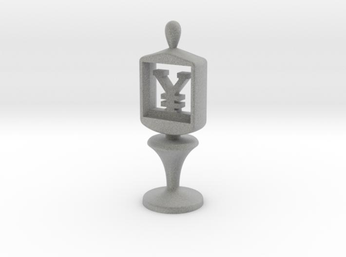 Currency symbol figurine,Yen 3d printed