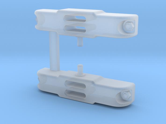 OO9 small Ruston buffers 3d printed