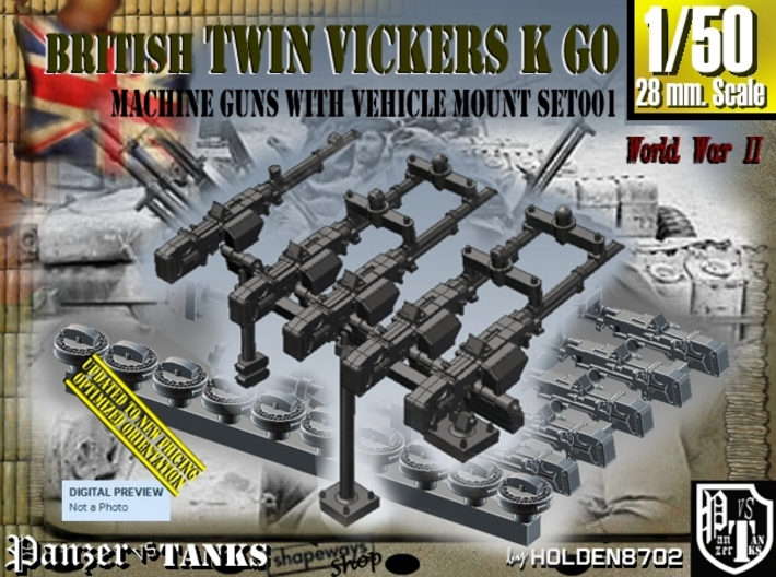 1/50 Vickers K GO Set001 3d printed