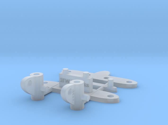 1/64 Steering Rack for Diecast Toy Cars 16mm width 3d printed