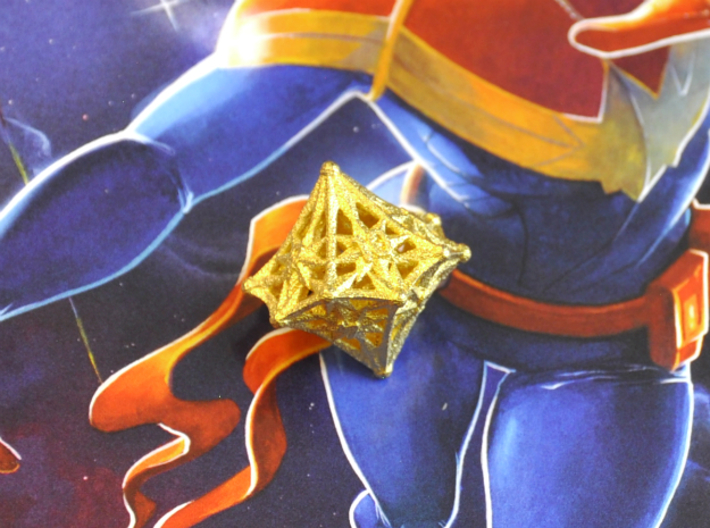 D10 Balanced - Radiant 3d printed Matte Gold Steel - No longer available