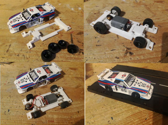 Carrera Universal 132 Lancia Beta Gr.5 Chassis 3d printed