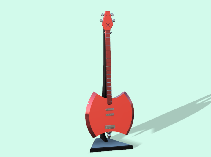Marcelnie Bass Guitar Axe with Stand 3d printed