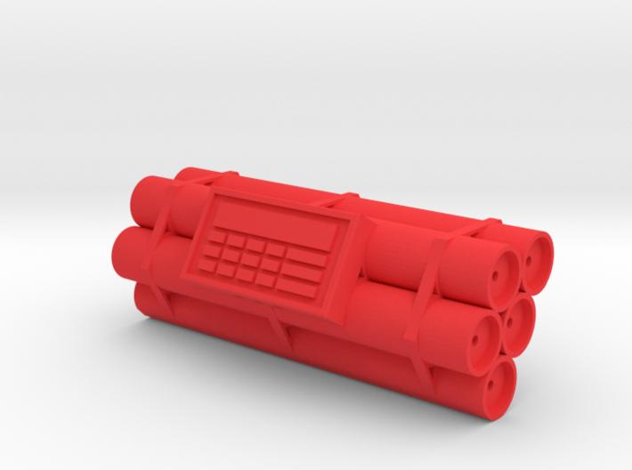 TNT dynamite bomb - 5 sticks - 1:2 scale 3d printed