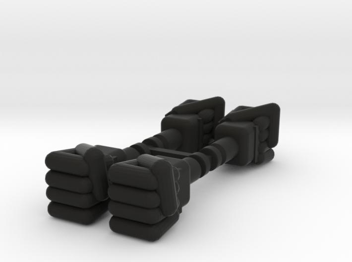 Micronauts Baron Karza fists 2 pairs 3d printed