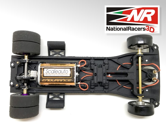 3D Chassis - Fly Truck Mercedes Benz  (Inline-AiO) 3d printed