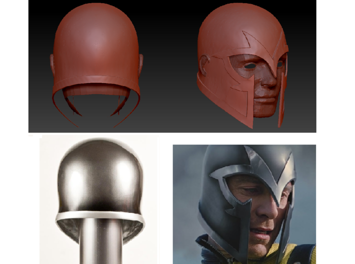 X-Men: First Class -Magneto helmet (no horns) 3d printed