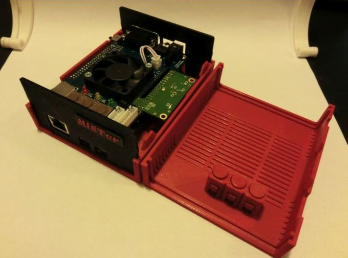 MiSTer Case Universal v5.2 Top Shell(1/4) 3d printed MiSTer Case (All Parts)