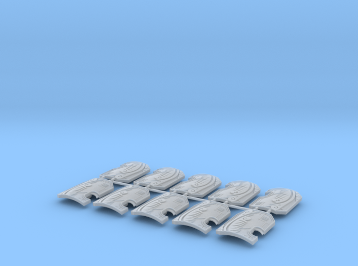 10x Tribal - Marine Boarding Shields w/Hand 3d printed