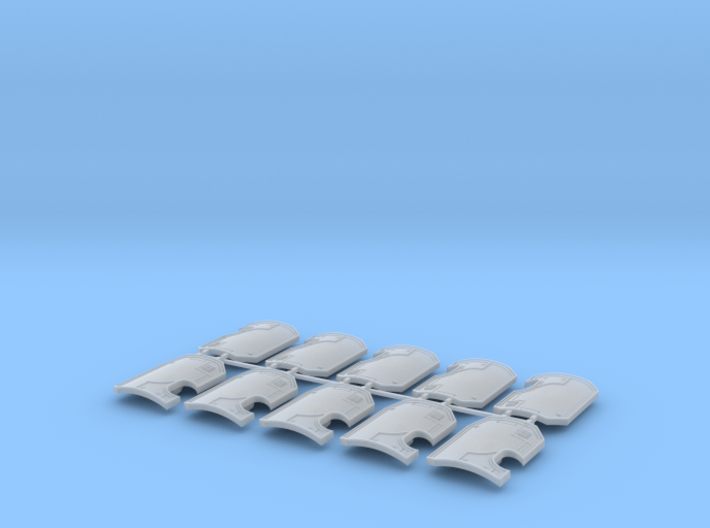 10x blank- Marine Boarding Shield w/Hand 3d printed
