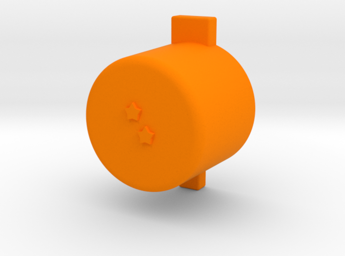 Two star button 3d printed