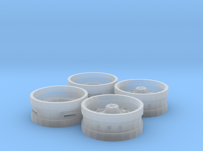 White WFE Style Rims 3d printed