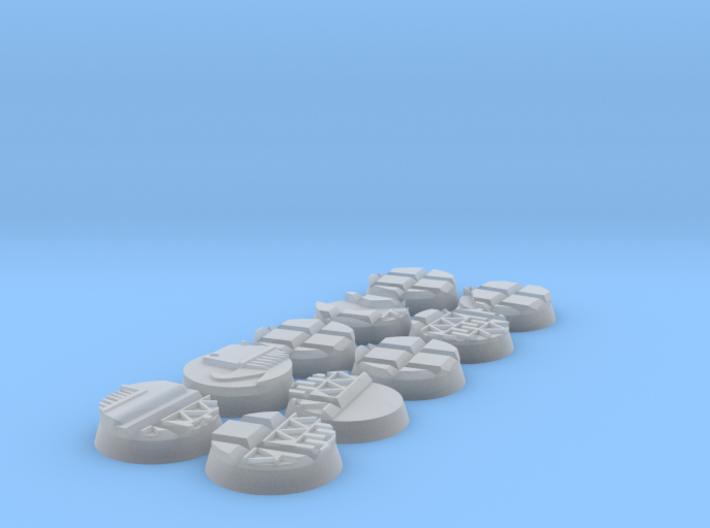 10X Lizard men 25mm bases 3d printed