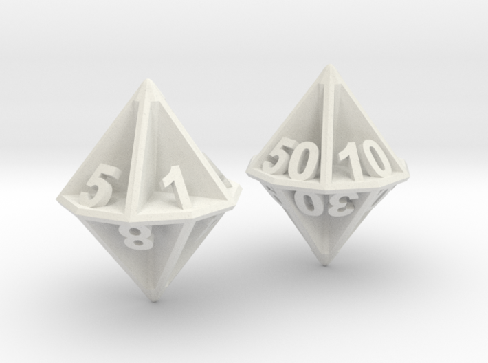D10/100 Set - Plunged Sides 3d printed