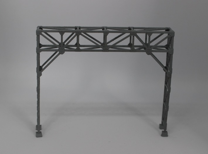 N Scale Signal Gantry 2 tracks 2pc 3d printed Painted model