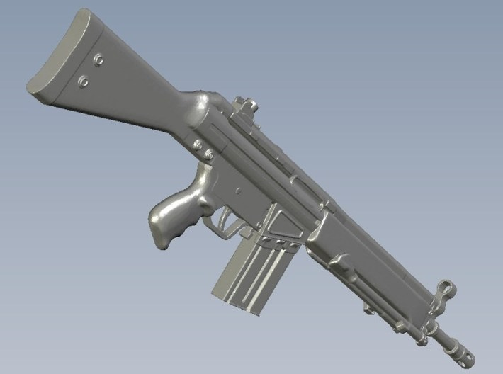 1/10 scale Heckler & Koch G-3A3 rifle A x 1 3d printed