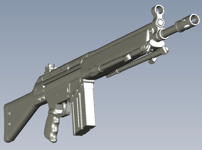 1/10 scale Heckler & Koch G-3A3 rifles A x 5 3d printed