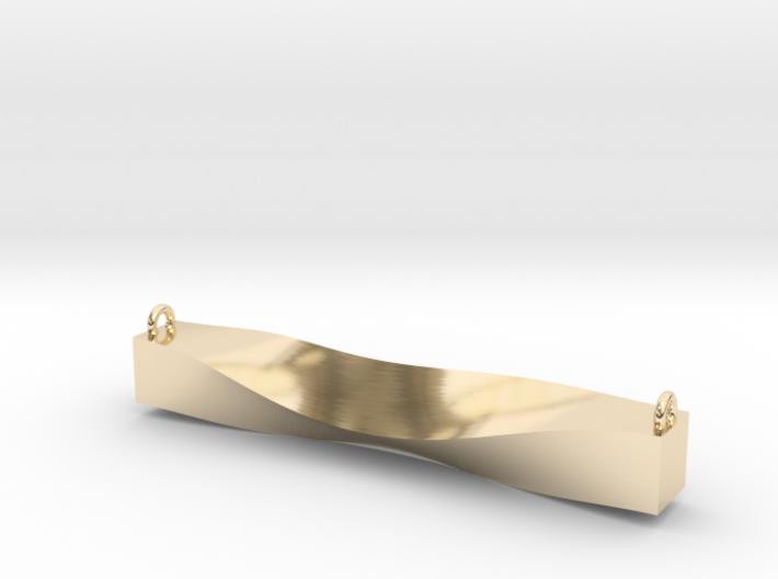 Cowl Bar Pendant 3d printed