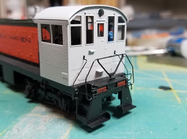 Alco NH low profile cab kit Proto 2000 S1 3d printed