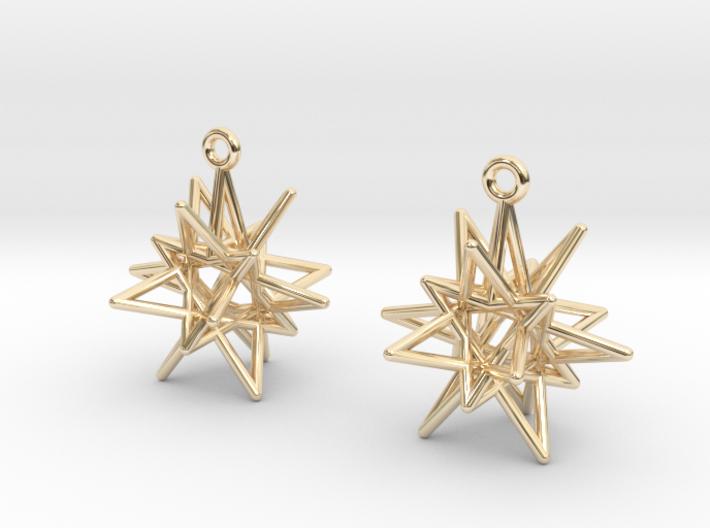 Stellar Drop Earrings 3d printed