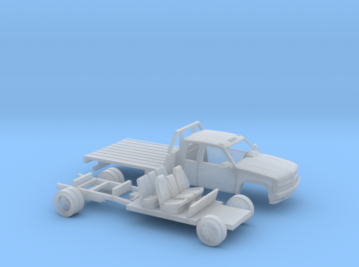 1/160 1990-98 Chevrolet ExtCab Dually Flatbed Kit 3d printed