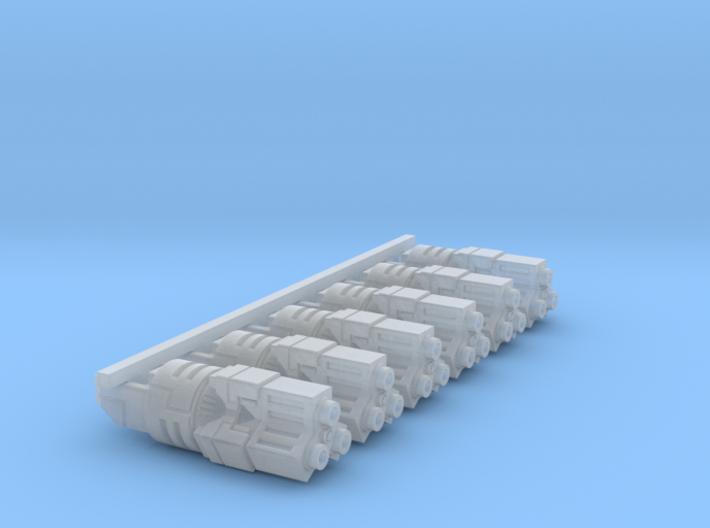 Blaster Gatling Barrels 3d printed