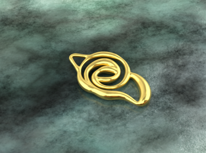 Achieve unity  3d printed gold material