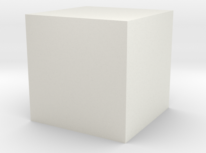 a cube of one cubic centimeter 3d printed
