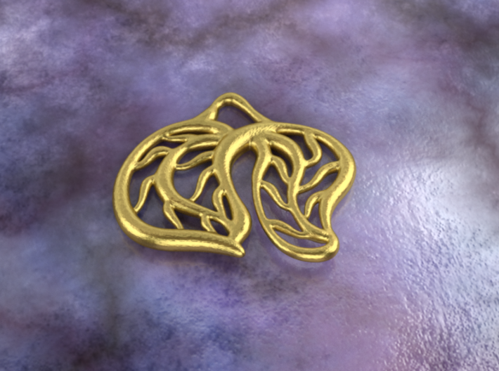 Leaves 3d printed brass material