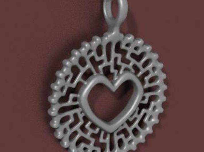 Heart Pendant 3d printed Side View (gomupter-generated image)