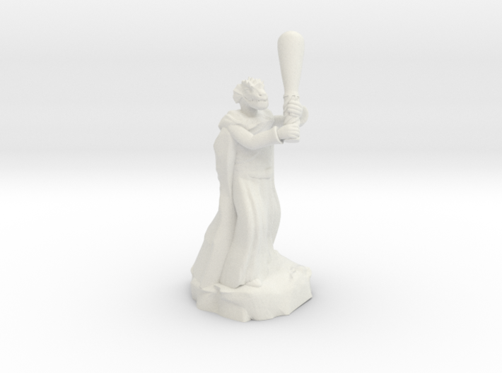 dragonborn sorcerer with greatclub 3d printed