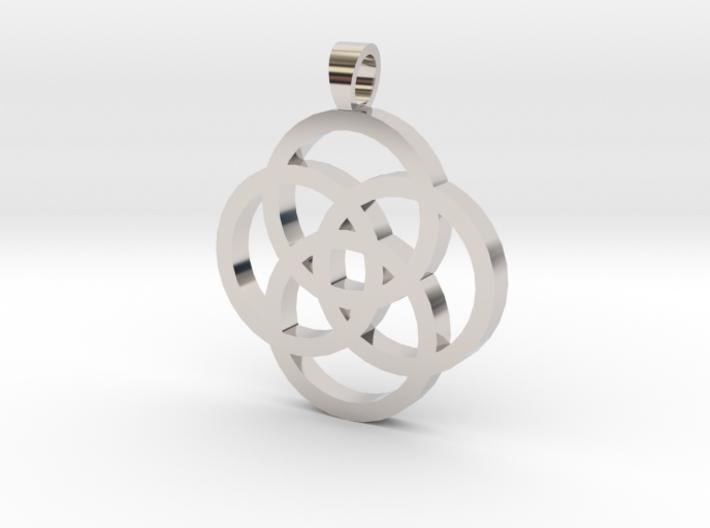 Rosette [pendant] 3d printed