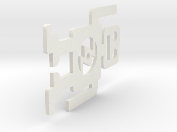 ZOZtheBOT - Flat Avatar 1 3d printed