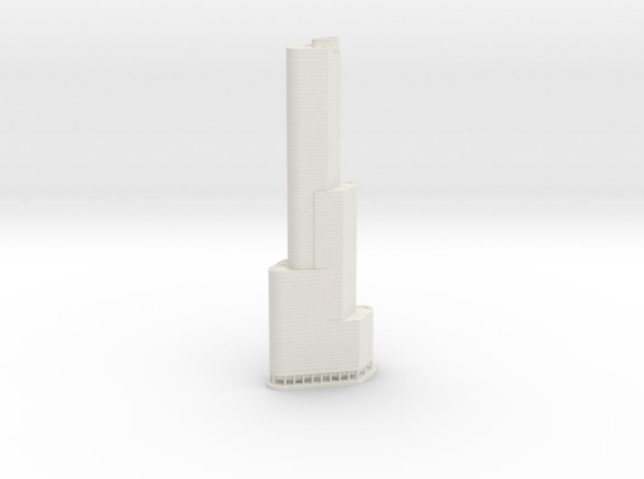Trump International Hotel & Tower (1:2000) 3d printed