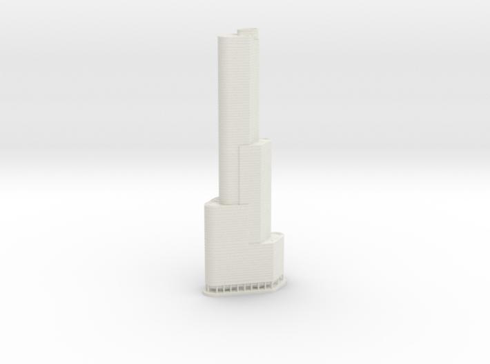 Trump International Hotel & Tower (1:2000) 3d printed