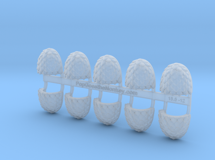 10x Blank - Voidscale Pauldrons 3d printed