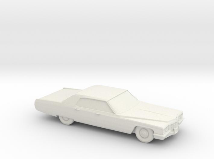 1/72 1972 Cadillac De Ville Sedan 3d printed